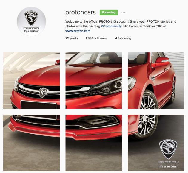 Proton Perdana Instagram