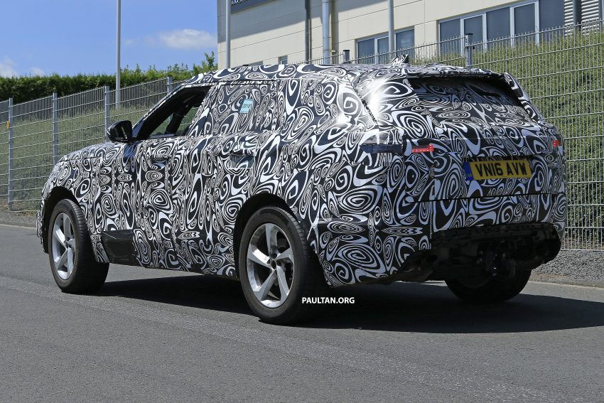 SPIED: L560 Range Rover Sport Coupe testing; alloy platform-based sister model to the Jaguar F-Pace Image #522661