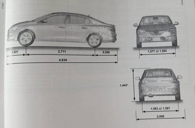 renault megane sedan leaked in owners manual. Black Bedroom Furniture Sets. Home Design Ideas