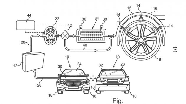 Mercedes benz files patent for tyre cooling system can for Spell mercedes benz