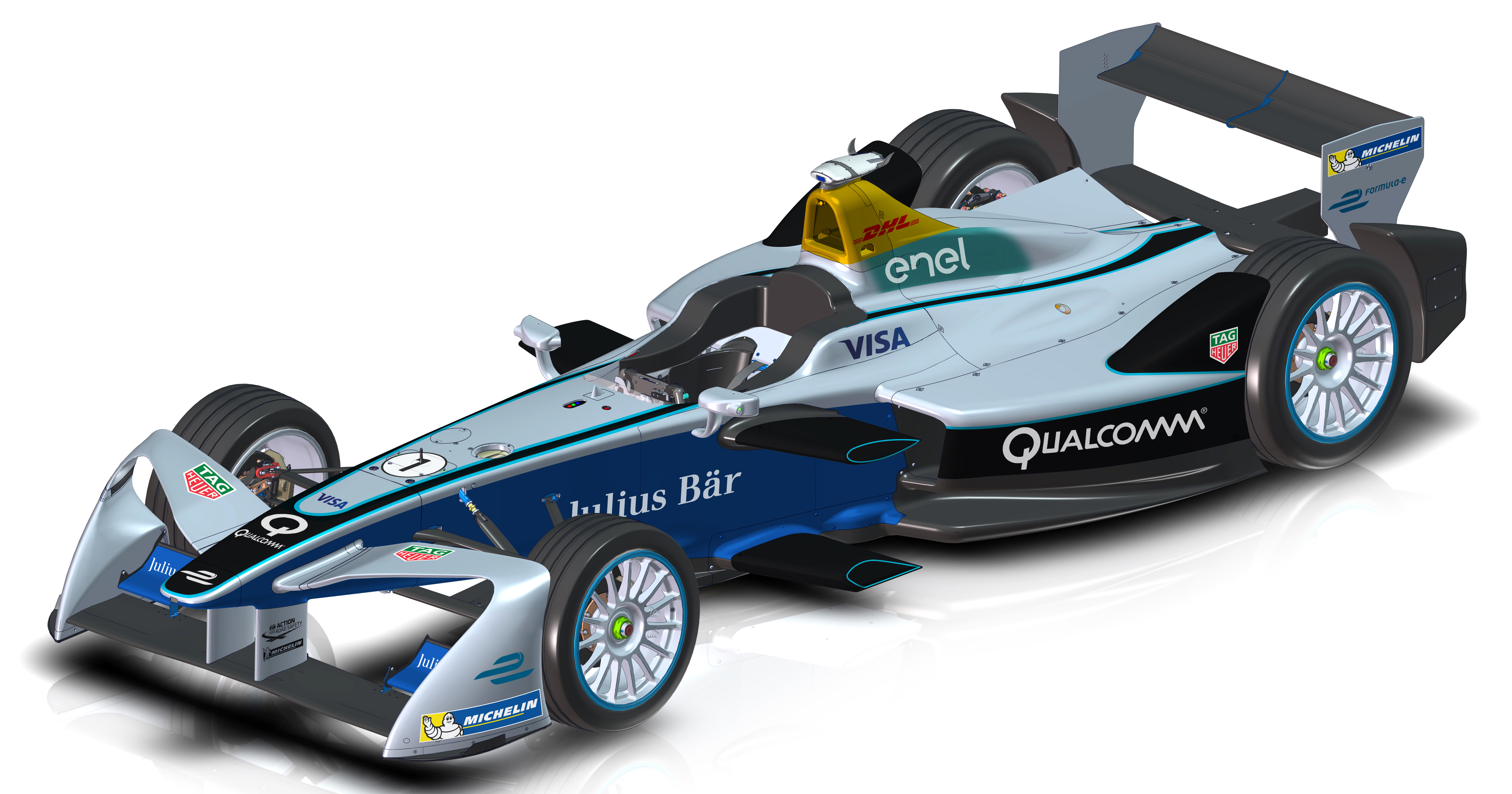 formula e race cars get new look for season three. Black Bedroom Furniture Sets. Home Design Ideas