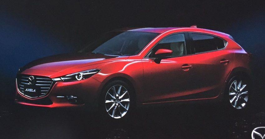 New Mazda 3 facelift revealed in Japanese brochure Image #517362