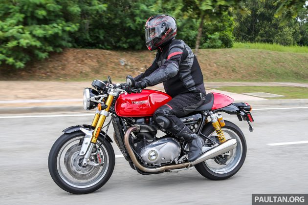 2016 Triumph Thruxton R road shot -11