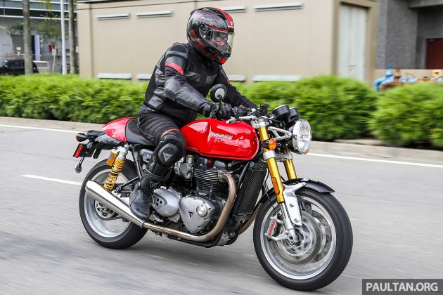 2016 Triumph Thruxton R road shot -7