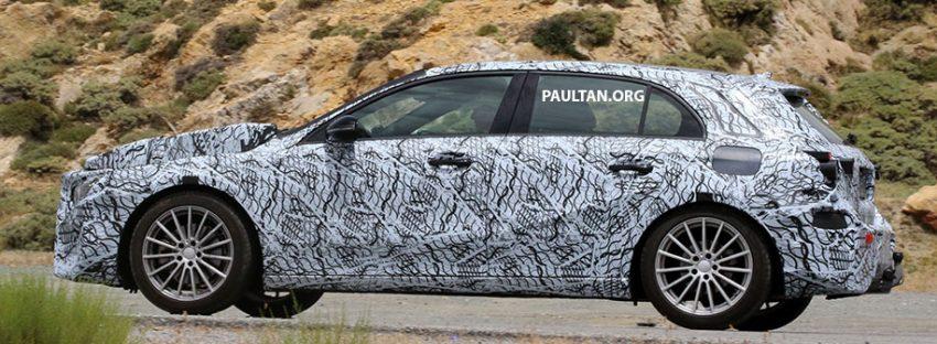SPYSHOT: Mercedes-Benz A-Class generasi berikutnya dikesan sedang membuat ujian jalan raya Image #526796