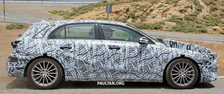 SPYSHOT: Mercedes-Benz A-Class generasi berikutnya dikesan sedang membuat ujian jalan raya Image #526802