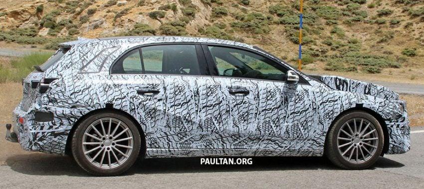 SPYSHOT: Mercedes-Benz A-Class generasi berikutnya dikesan sedang membuat ujian jalan raya Image #526801