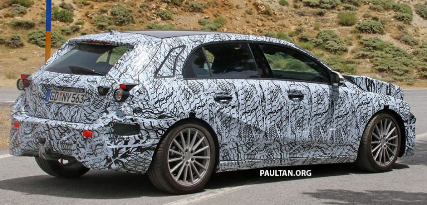 SPYSHOT: Mercedes-Benz A-Class generasi berikutnya dikesan sedang membuat ujian jalan raya Image #526800