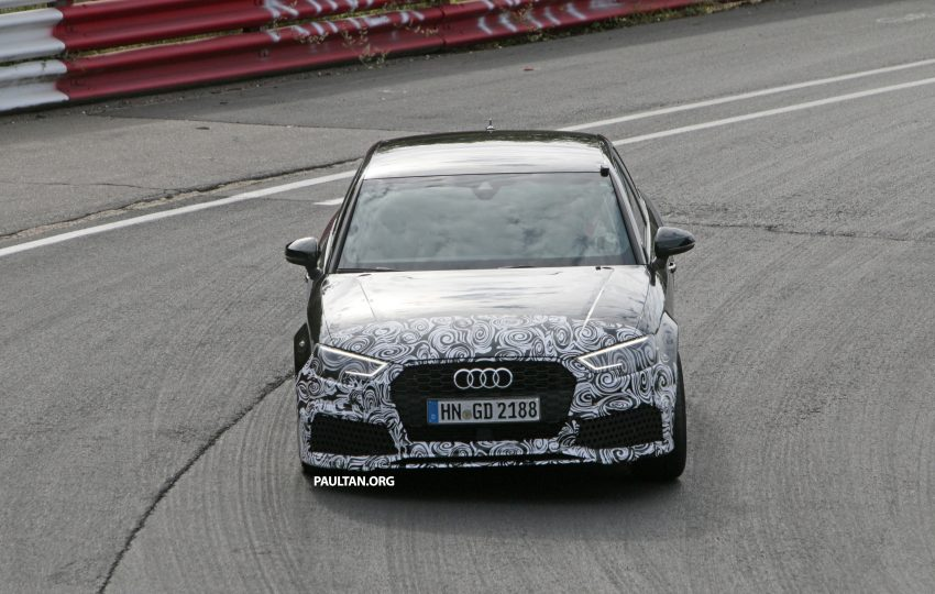 SPYSHOTS: New Audi RS3 spotted testing on the track Image #517582