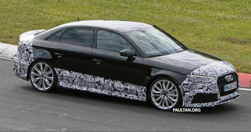 SPYSHOTS: New Audi RS3 spotted testing on the track Image #517585