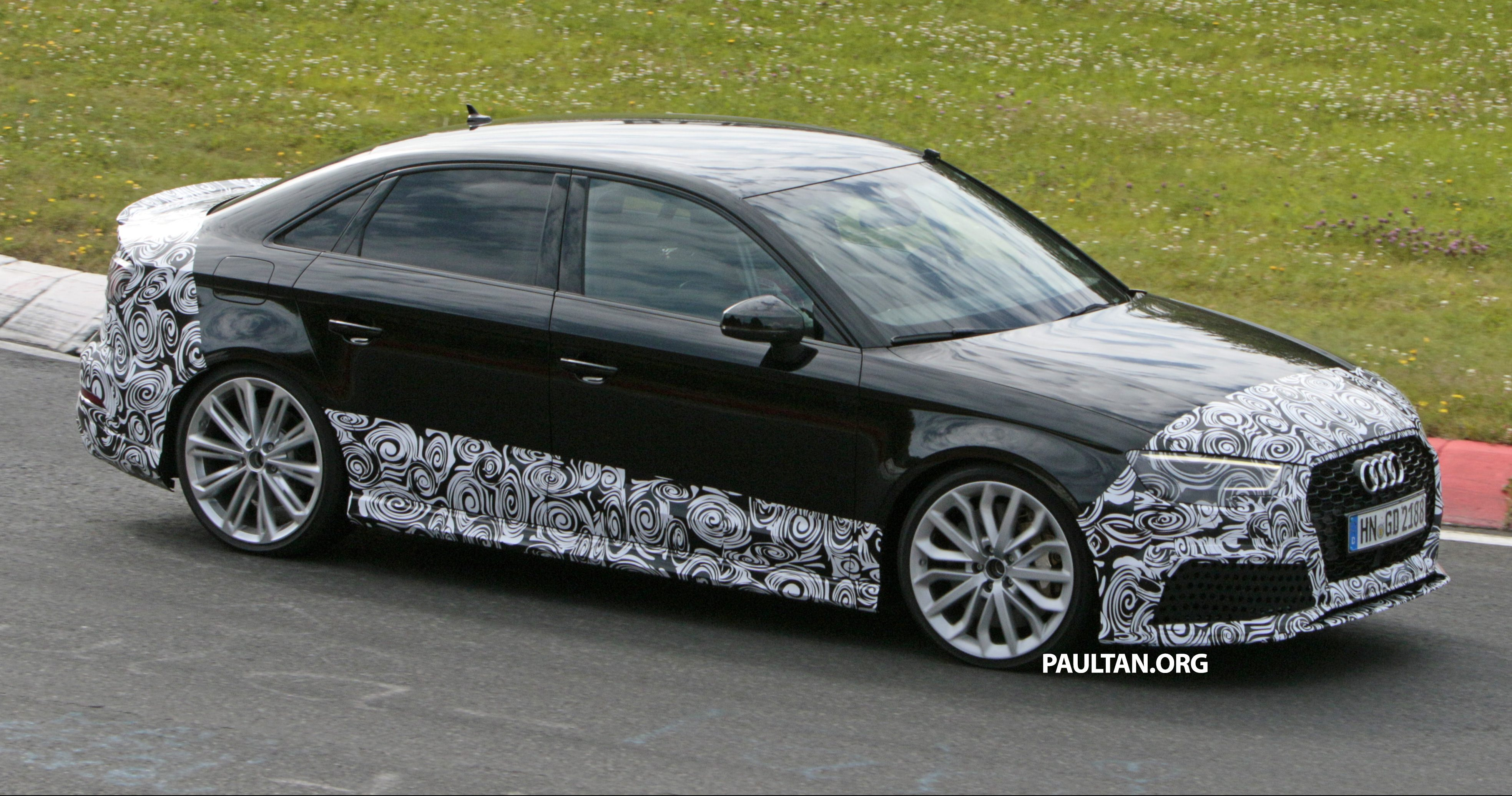 spyshots  new audi rs3 spotted testing on the track paul tan
