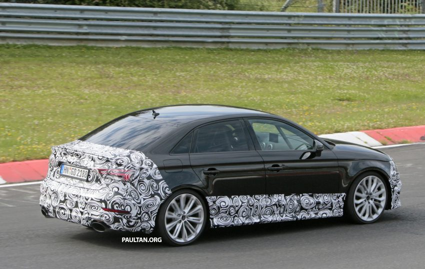 SPYSHOTS: New Audi RS3 spotted testing on the track Image #517588