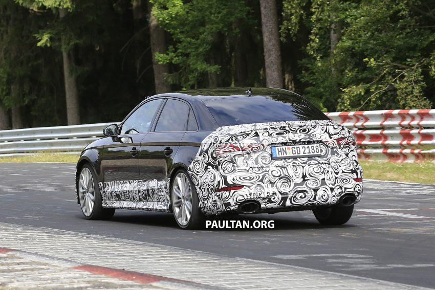 SPYSHOTS: New Audi RS3 spotted testing on the track Image #517553
