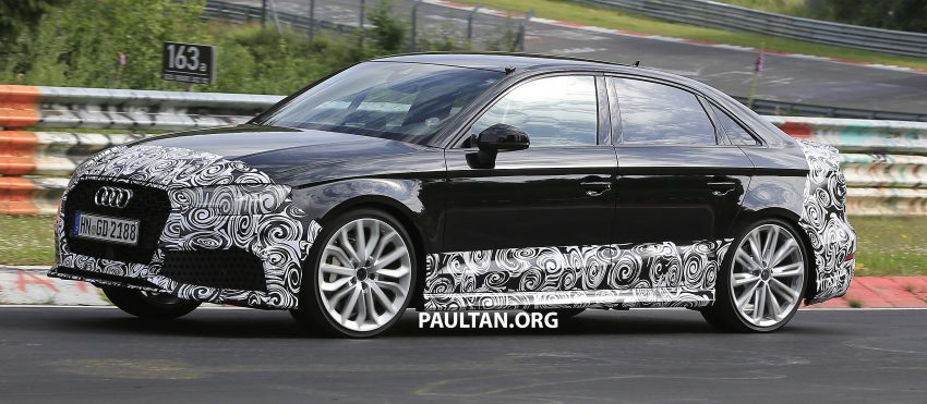 SPYSHOTS: New Audi RS3 spotted testing on the track Image #517550