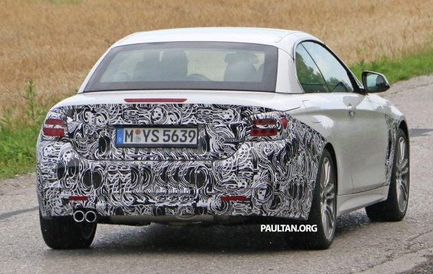 BMW 4 Series Convertible facelift 10