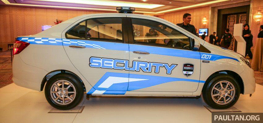 Perodua Bezza security patrol car displayed at launch Image #523303