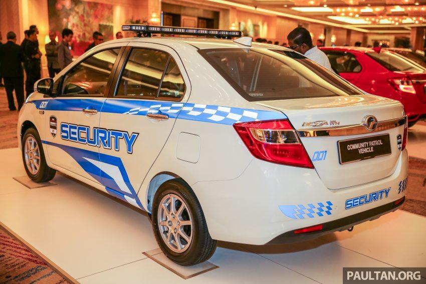 Perodua Bezza security patrol car displayed at launch Image #523308