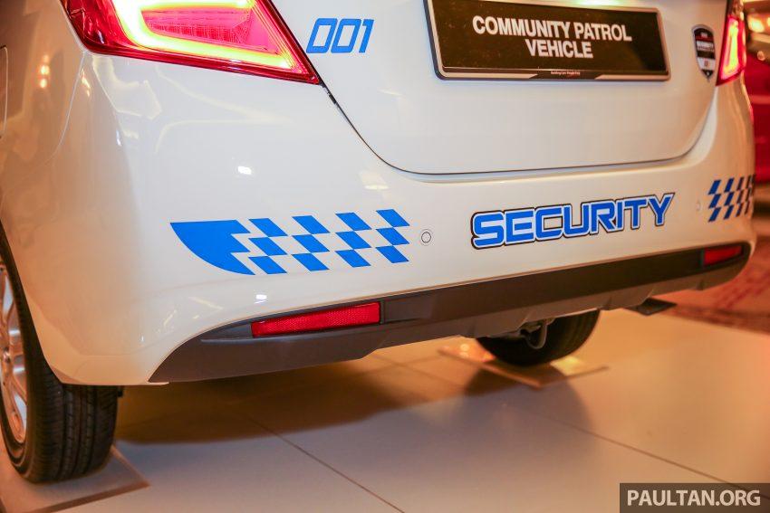 Perodua Bezza security patrol car displayed at launch Image #523310