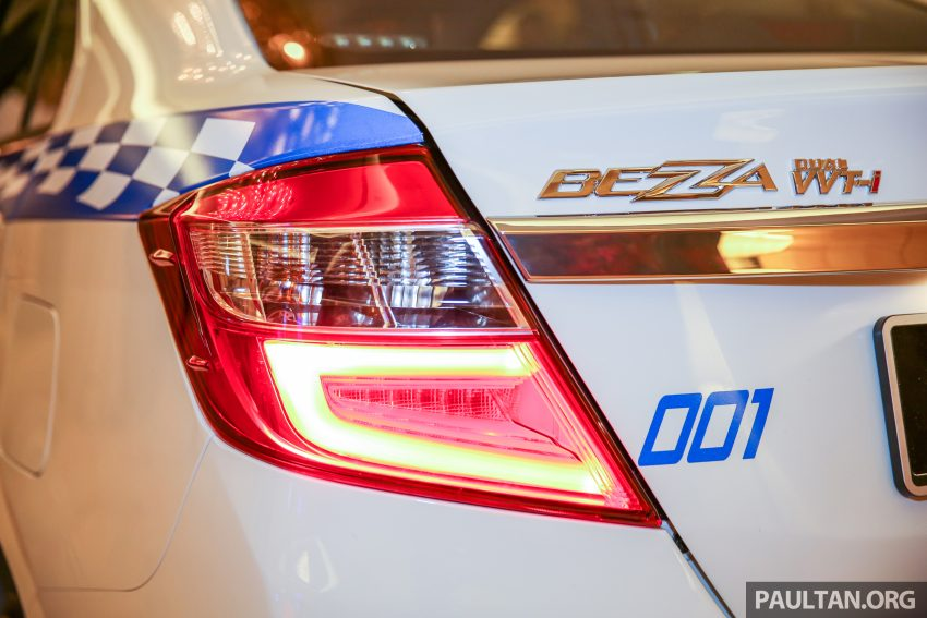 Perodua Bezza security patrol car displayed at launch Image #523311