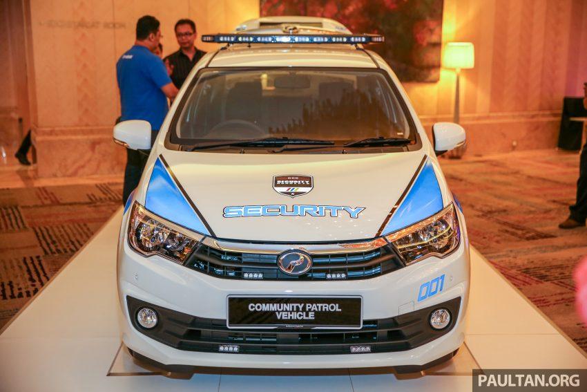 Perodua Bezza security patrol car displayed at launch Image #523293