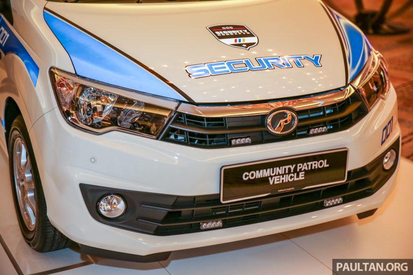 Perodua Bezza security patrol car displayed at launch Image #523295