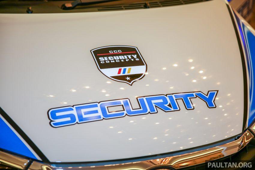 Perodua Bezza security patrol car displayed at launch Image #523296