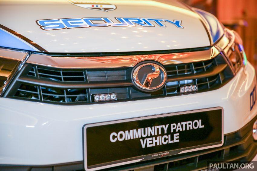 Perodua Bezza security patrol car displayed at launch Image #523300