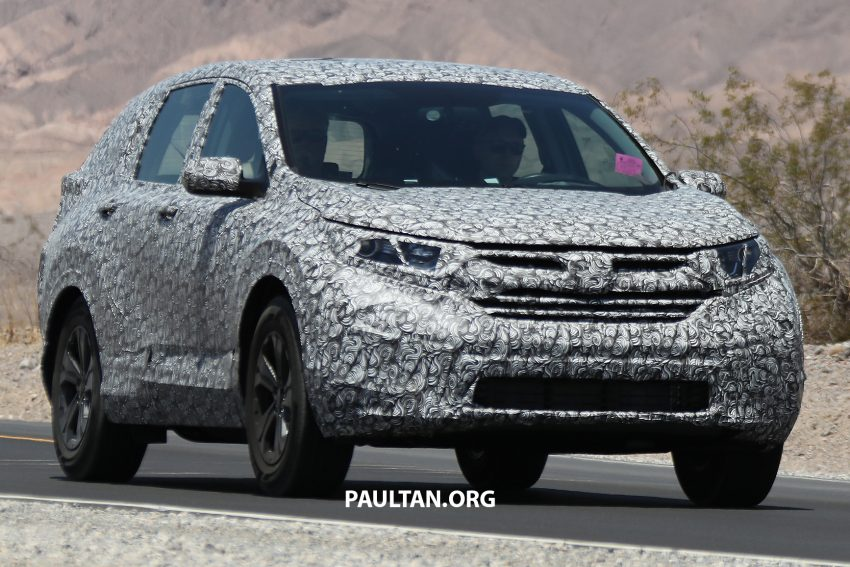 Back to Story: SPYSHOTS: 2017 Honda CR-V – next-gen caught again