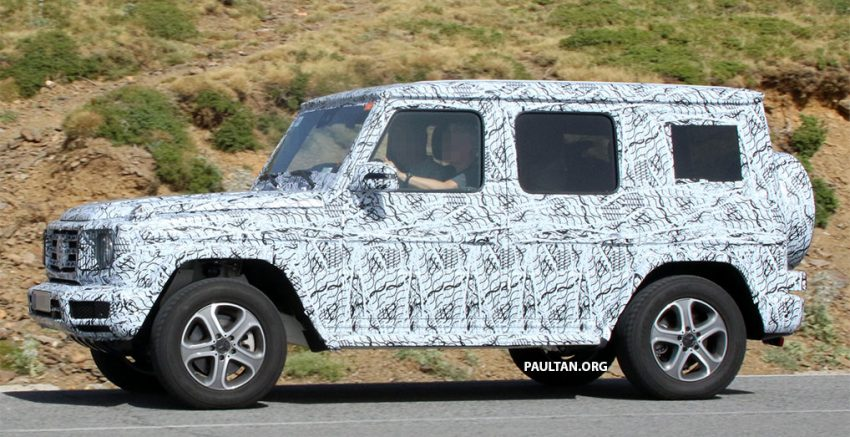 SPIED: Next-generation Mercedes-Benz G-Class – similar looks, but set for 400 kg weight reduction Image #526481