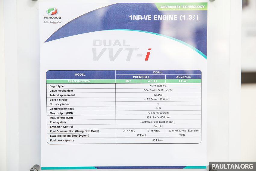 Perodua Bezza – Perincian enjin 1.0L VVT-i, 1.3L Dual VVT-i, transmisi automatik 4-kelajuan dikemaskini Image #519820