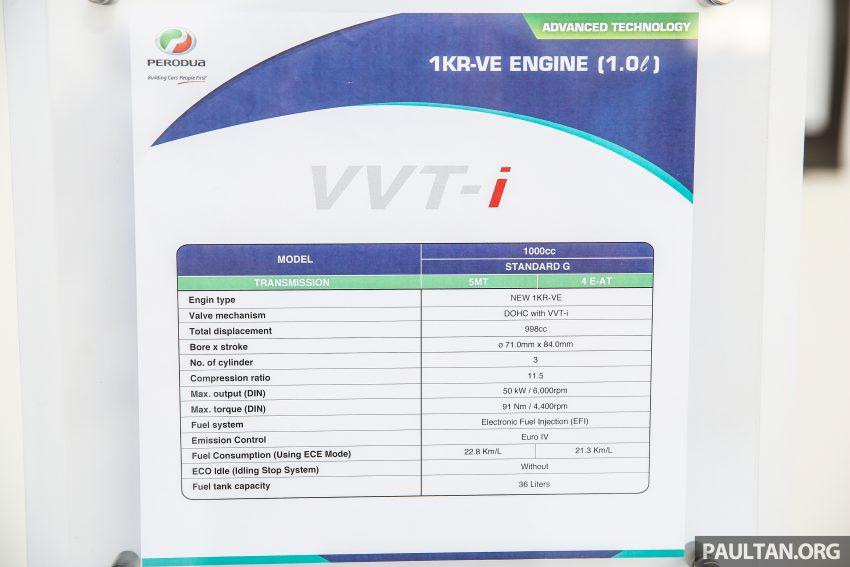Perodua Bezza – Perincian enjin 1.0L VVT-i, 1.3L Dual VVT-i, transmisi automatik 4-kelajuan dikemaskini Image #519811