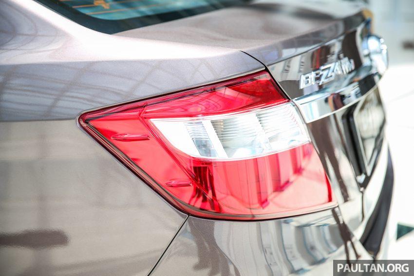 Perodua Bezza – senarai elemen varian demi varian Image #519859