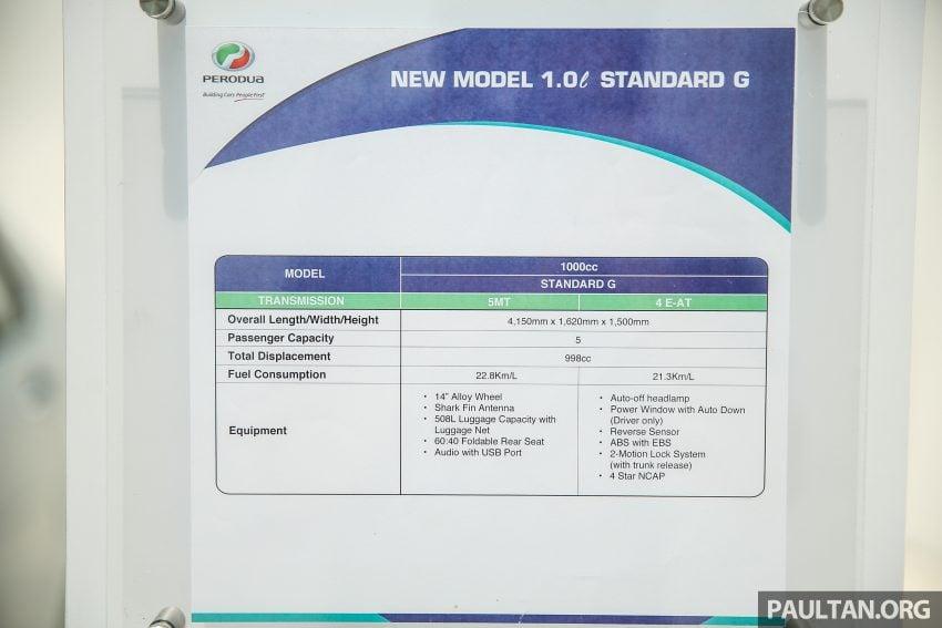 Perodua Bezza – senarai elemen varian demi varian Image #520156