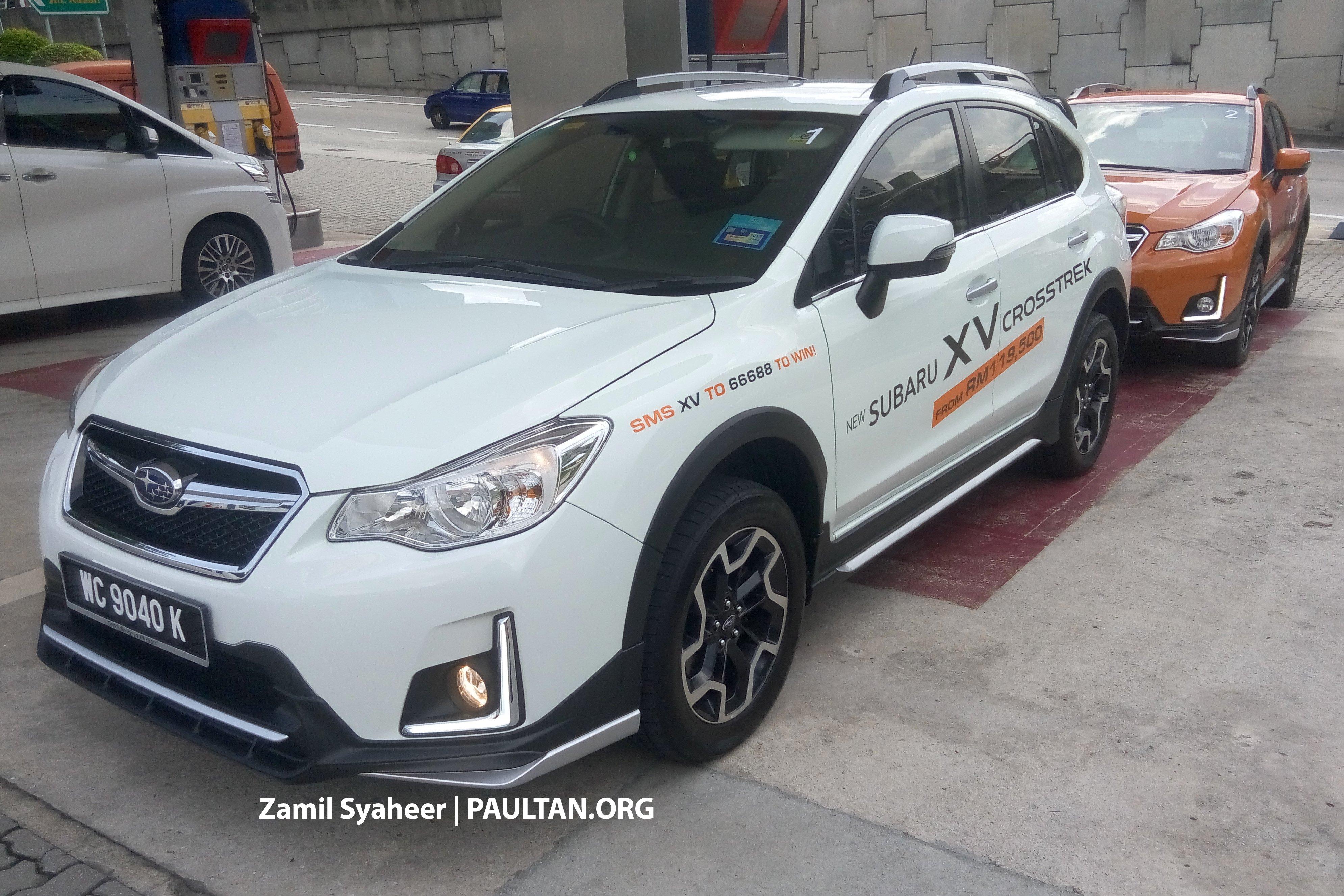 Spied Subaru Xv Crosstrek Adds Bodykit Rm143k