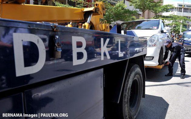 dbkl parking tow bernama pix