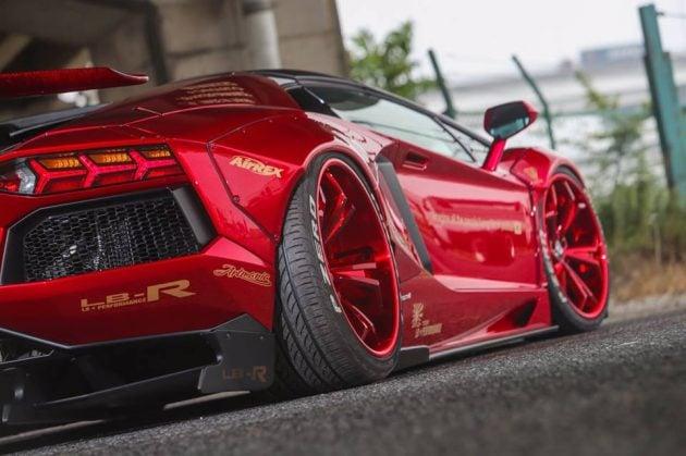 Lamborghini Aventador Gets Liberty Walk Treatment
