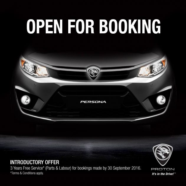 Proton Persona open for booking