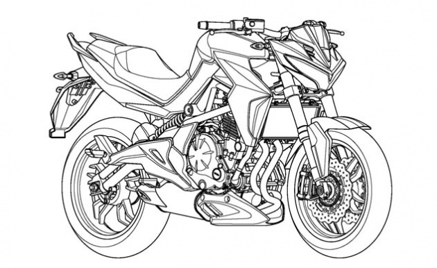 Kymco Patents 650 Cc Middle Weight Motorcycle Design Based