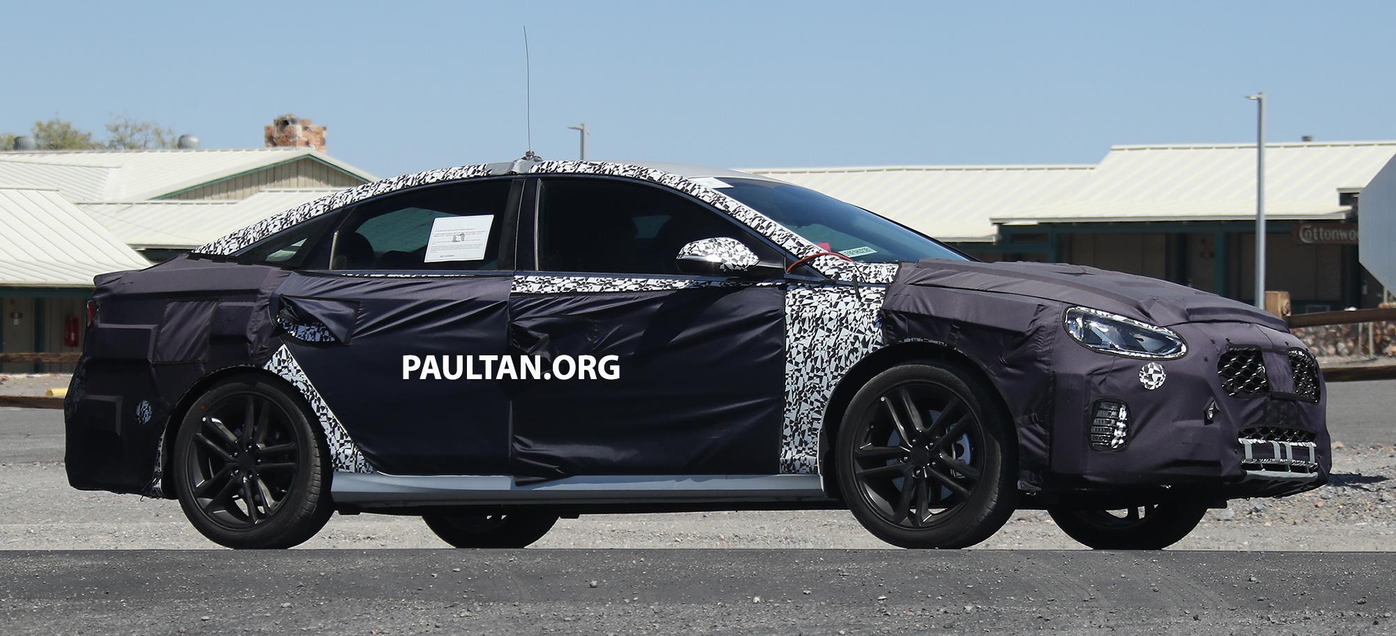 Hyundai Spy Shots >> SPYSHOTS: 2018 Hyundai Sonata facelift – N version? Paul Tan - Image 538372