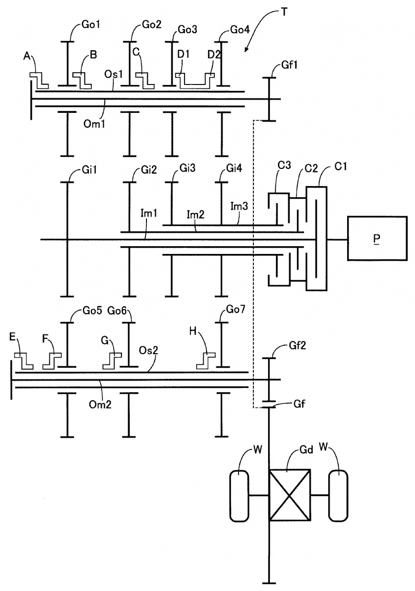 Honda patents 11-speed gearbox with three clutches Image #538972