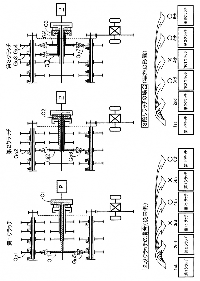 Honda patents 11-speed gearbox with three clutches Image #538974
