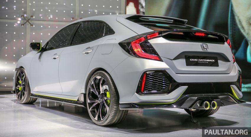 GIIAS 2016: Prototaip Honda Civic Hatchback dipamerkan –  ia akan menembusi pasaran ASEAN? Image #533446