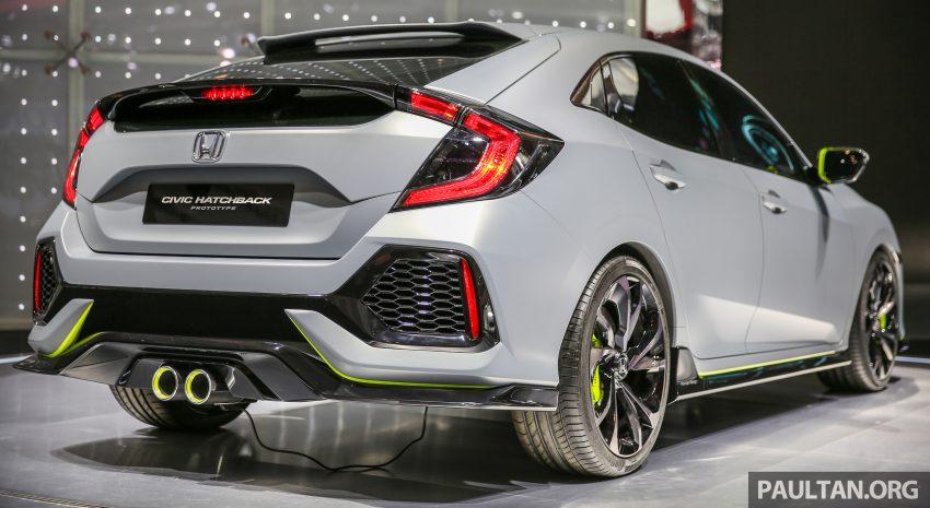 GIIAS 2016: Prototaip Honda Civic Hatchback dipamerkan –  ia akan menembusi pasaran ASEAN? Image #533447