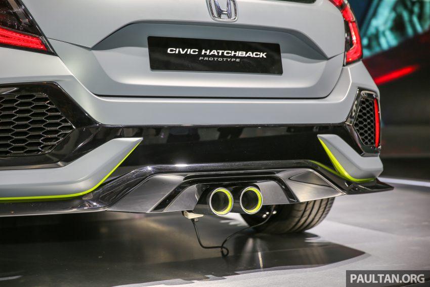 GIIAS 2016: Prototaip Honda Civic Hatchback dipamerkan –  ia akan menembusi pasaran ASEAN? Image #533455