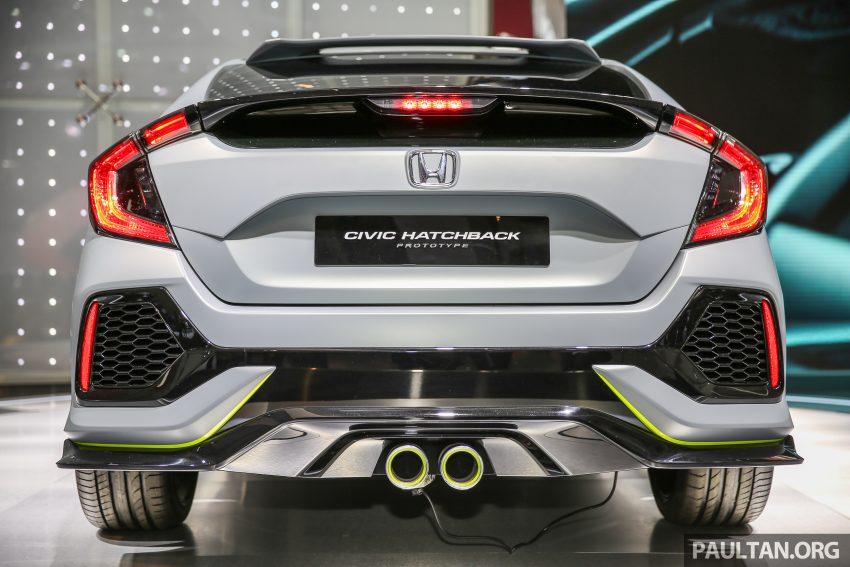 GIIAS 2016: Honda Civic Hatchback Prototype displayed ...