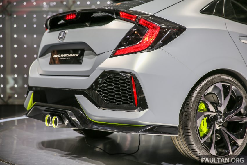 GIIAS 2016: Prototaip Honda Civic Hatchback dipamerkan –  ia akan menembusi pasaran ASEAN? Image #533453