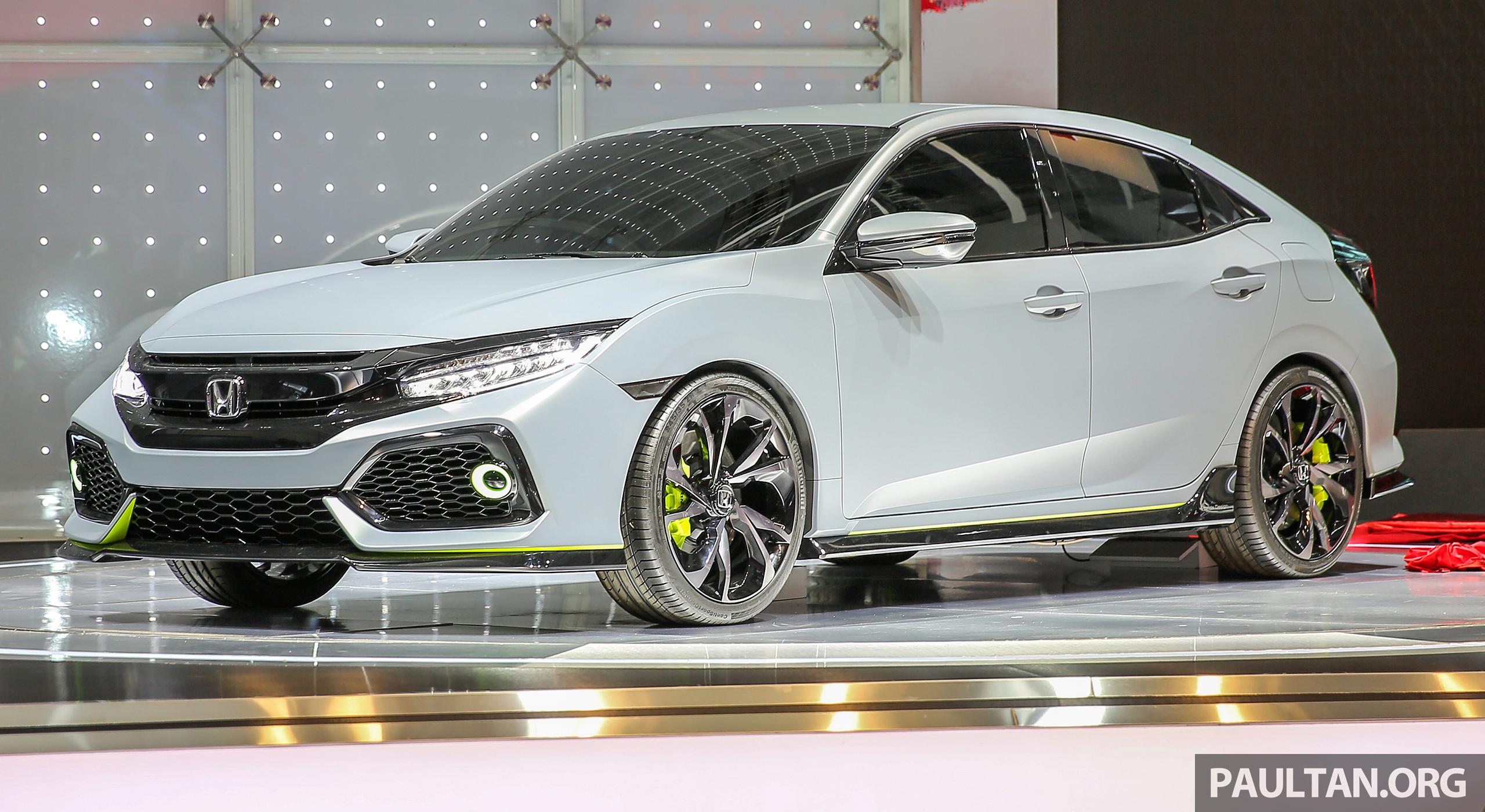 Giias 2016 honda civic hatchback prototype displayed for 08 honda civic 2 door