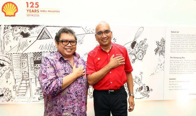 Image 2 - Datuk Lat (left) and Datuk Azman Ismail, Managing Director, Shell Malaysia Trading Sdn. Bhd. and Shell Timur Sdn. Bhd.