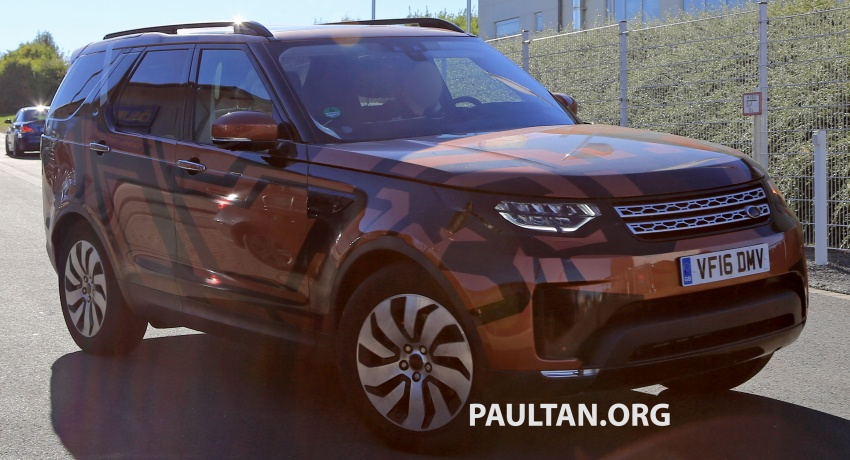 SPYSHOTS: 2017 Land Rover Discovery 5 almost nude Image #540193