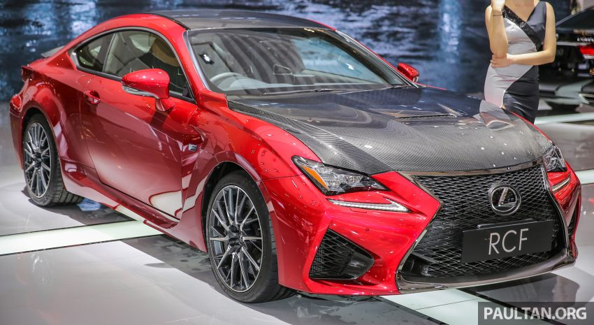giias 2016 lexus rc f � v8 coupe with carbon dress paul